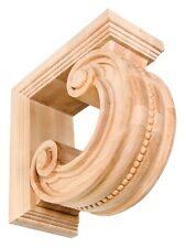 """IWW337 - 8"""", 10"""" Corbel Hand-Carved Solid Hardwood Round Oak, Maple, or Cherry"""
