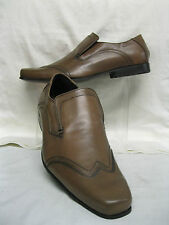 *SALE* Mens Clarks fiction clip Brown leather slip on shoes