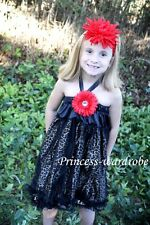 Black Leopard Chiffon Ruffles One Piece Pettidress Dress Child Girl Dress 1-10Y