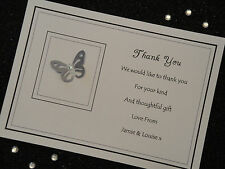 10 Handmade Personalised Thank You Invitation Cards Wedding Birthday Christening