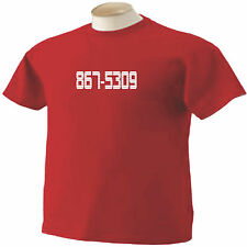 867-5309 8675309 T-Shirt Jenny Tommy Tutone Classic Rock Music 80's Phone Number