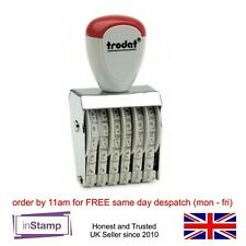 NUMBER STAMP, TRODAT CLASSIC LINE TRADITIONAL RUBBER NUMBERER ASSTD SIZES