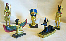 Egyptian Statues, Black & Gold Anubis, Tutankhamun, Golden Isis, NEW, Ideal Gift