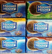 MAXWELL HOUSE GROUND COFFEE REFILLS OR FILTER PACKS ~ MANY FLAVORS * PICK ONE