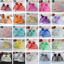 "50 Strong Sheer Organza Pouch 3x3.5"" 7x9cm Wedding Favor Jewelry Gift Candy Bags"