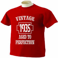 81st Birthday T-Shirt 81 Years Old Vintage 1935 Aged To Perfection