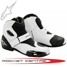 ALPINESTARS S-MX 1 MOTORCYCLE BOOTS - WHITE - FREE P&P!!