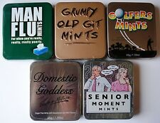 GOLF GIFT - TIN OF MINTS IDEAL FOR GOLF HAND BAG CAR. 5 TO CHOOSE FROM - NEW