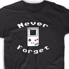 Never Forget T Shirt Video Game Funny Geek Gamer Emo Nerd Vintage Retro Tee