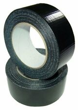 Black, White or Silver Gaffa Tape Cloth Duct Duck Gaffer 48mm x 50m Economy roll
