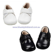 NEW Baby Boys Christening/Party Leather Shoes NB-20M  in White or Black