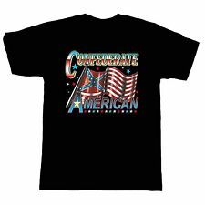 biker rebel short sleeve T-shirt confederate American south dixie flag attitude