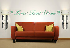 Home Sweet Home Quote, Vinyl Wall Art Sticker, Mural, Decal, Hearts
