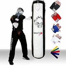 TurnerMAX Boxing Punch Bag Set Heavy Duty Chain MMA Filled Punching Bags MMA UFC