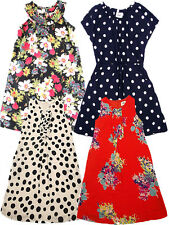 New Mini Boden Girls Cotton Summer Dresses Polka Dot Floral Spot Tunic Dress Top