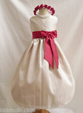 2012 VN CHAMPAGNE APPLE RED FLOWER GIRL PAGEANT DRESS 1 2 4 6 8 10 12 14