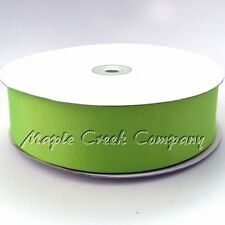 APPLE GREEN Grosgrain Ribbon Roll ASSORTED WIDTHS Sewing or Decorating