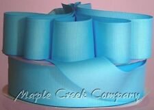 LIGHT BLUE Grosgrain Ribbon 50 YARD roll ASSORTED WIDTHS Sewing & Decorating