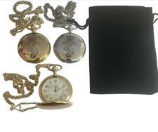 REME POCKET WATCH -REME REGIMENT CREST ENGRAVED, COMES WITH VELVET POUCH