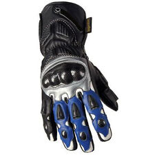 Brand New Cowhide Leather Heavy Duty Motorcycle Gloves Motorbike Blue Collection