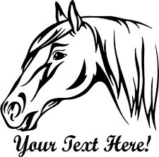 Horse Head w/Custom Text Vinyl Wall Art Sticker Decal