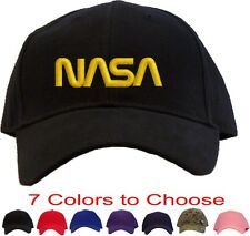 Nasa - Yellow Worm Logo Embroidered Baseball Cap - Available in 7 Colors - Hat
