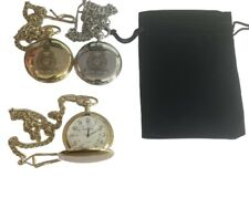 ROYAL MARINES POCKET WATCH ENGRAVED WITH RM CREST, COMES WITH VELVET POUCH