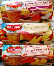 DEL MONTE FRUIT CUPS SNACK SIZE FRUIT CUPS ~ PICK ONE
