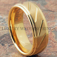 Men's Tungsten Ring Infinity 14K Gold Wedding Band Bridal Jewelry Love Size 6-13