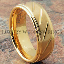 Men's Tungsten Ring Infinity 14K Gold Wedding Band Bridal Jewelry Size 6-15 LWR