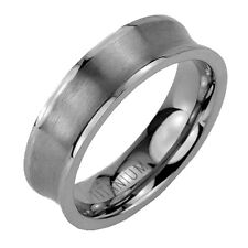 6mm Titanium Jewelry Brush Concaved Band Men's Wedding Ring