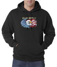 Lady Biker American Eagle USA Choppers 50/50 Pullover Hoodie