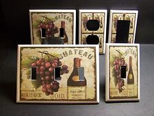 TUSCAN WINE & GRAPES KITCHEN DECOR LIGHT SWITCH OR OUTLET COVER V308