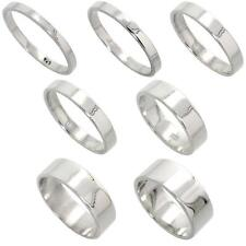 Men & Women Sterling Silver FLAT Wedding Band, Thumb / Toe Ring, 2mm to 8mm
