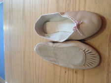 ANGELO LUZIO PINK LEATHER FULL SOLE BALLET SLIPPERS ADULT AND CHILDREN SIZES