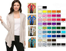 Long Sleeve Arianna Tiered SOFT Rayon CARDIGAN WRAP S M L XL *Pick Color*