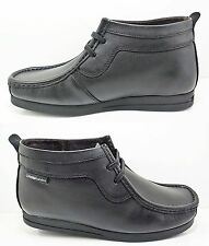 Mens BASE LONDON Leather Ankle Boots Shoes Subbass New Black Sale Lace Size 6-12