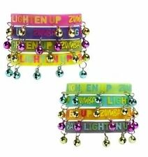 NEW Zumba Fitness Lighten Up Jingle Bell Bracelets Choice of 2, 4, or FULL PACK