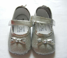 Shinny silver princess girl shoes toddler shoes baby girl shoes UK size2,3,4