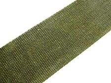 Olive Green (53) Cotton Webbing Belting Fabric Strap Bag Making Thick Quality
