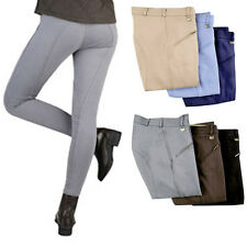 NEW Ladies HKM Cotton Stretch Horse Riding Breeches Trousers - Colours&Sizes