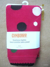 Gymboree Pups and Kisses Dot Footless Tights Red  3-4-5-6-7-8-9-10-12 NWT New