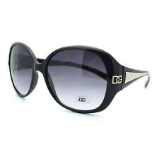 WOMENS ROUND Sunglasses OVERSIZE CLASSIC Frame with METAL ACCENT Elegant Look