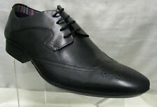 Mens Clarks Glint Street Black Leather Brogue Style Shoes G Fitting
