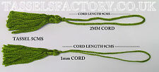 10 x Chainette Tassels Bridal Decorations, Cards, Bookmarks, Sewing  JADE Green