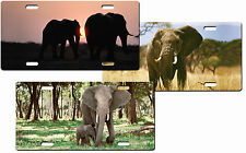 CUSTOM PERSONALIZED METAL ELEPHANTS LICENSE PLATE - ADD ANY TEXT FREE