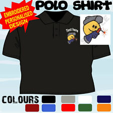 PERSONALISED EMBROIDERED WELDER WELDING UNIFORM WORKWEAR T POLO SHIRT