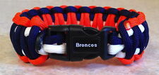 DENVER BRONCOS~NFL~Stylish 3 Color 550 Paracord Bracelet~Peyton Manning~Elway