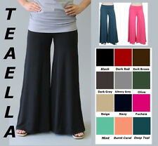 TRUE PLUS LONGER INSEAM Comfy Flowy WIDE LEG PALAZZO GAUCHO pants 1X 2X 3X yoga