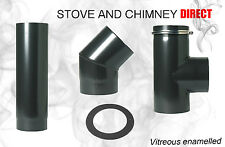 Vitreous Enamel Flue Pipe in 5'' 6 '' elbows/ collars//Tee and Plugs